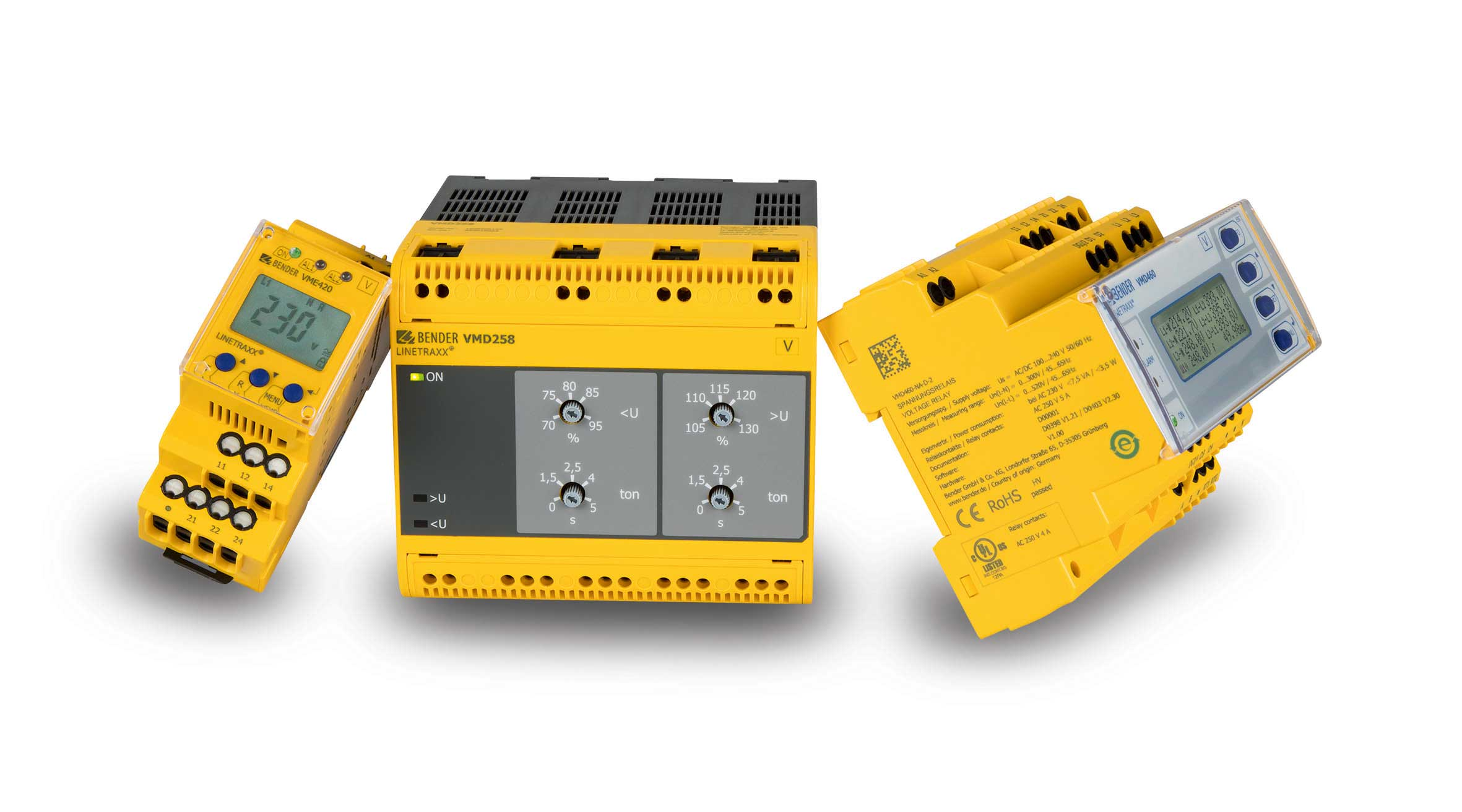 [Translate to Nederlands:] Measuring and monitoring relays: current, voltage, frequency